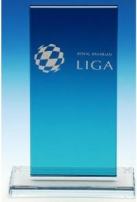 Glas-Trophäe Blueglass, 25 cm