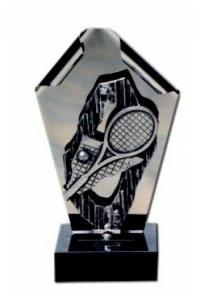 Trophäe Tennis Edelstahl (G-L-M-1761)