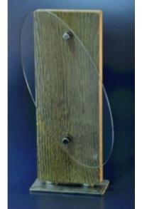 Holz-Award mit Acryl, 25 cm